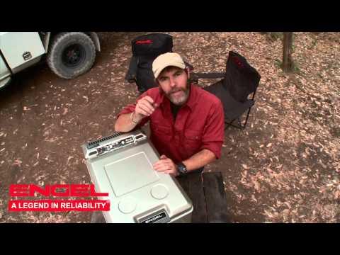 Graham Cahill tests the Engel portable fridge/freezer